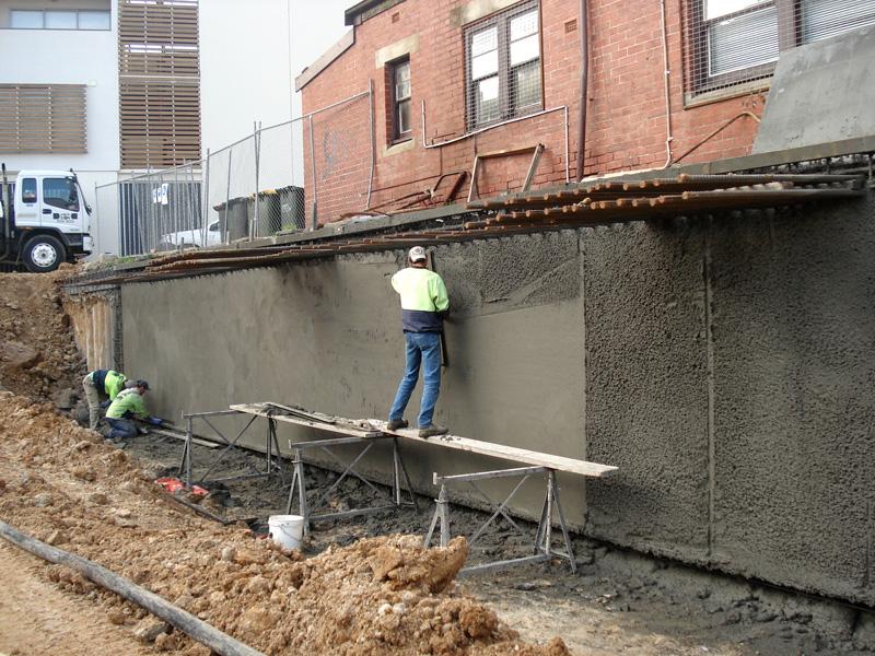 Basement construction for Building a basement foundation